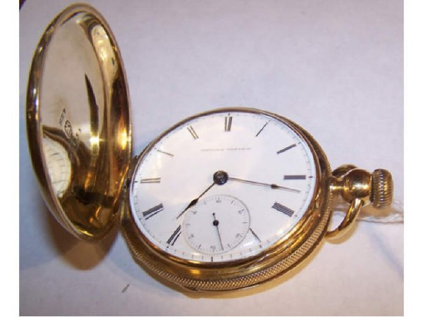 10035O: Fine M D Ogden Elgin 18k Solid Gold Pocket Watc