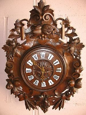 6086: Fine Hand Carved Oak French Barometer