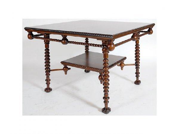 10100: Heavy Carved Mahogany Table