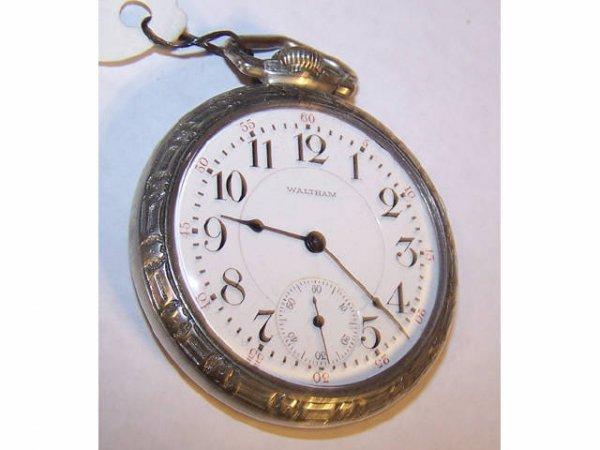 10112: Waltham  Crescent Street Railroad Pocket Watch