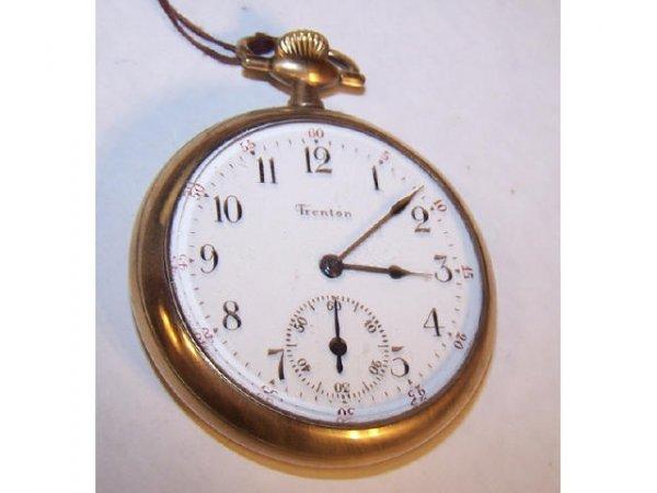 10116: Ingersol Trenton 19 Jewel GF Case Pocket Watch