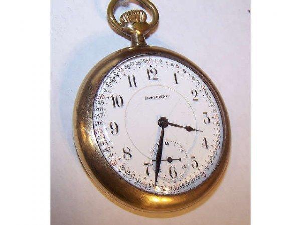 10117: Burlington  21 Jewel Railroad Pocket Watch