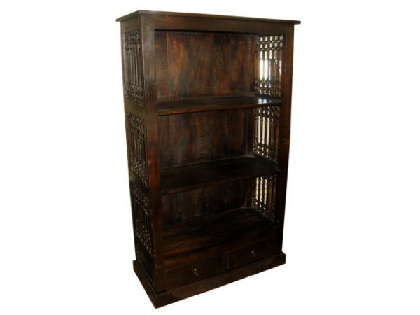 7000: Rustic Wooden Open Bookcase