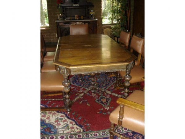 7017: Spanish Revival Dining Room Set, circa 1920