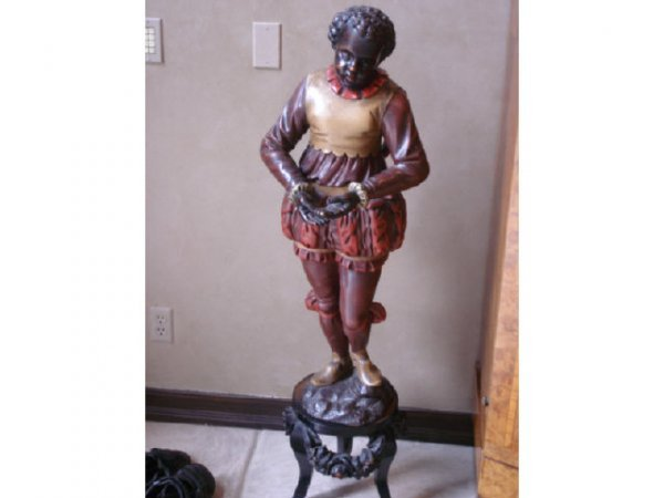 7021: Large Carved Blackamoore on stand