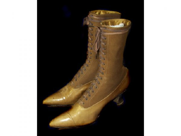 1: Fine Pair 19th Century Victorian Lace up Boots