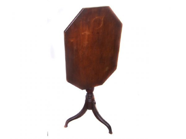 21: 1820s Period Tilt Top Candle Stand