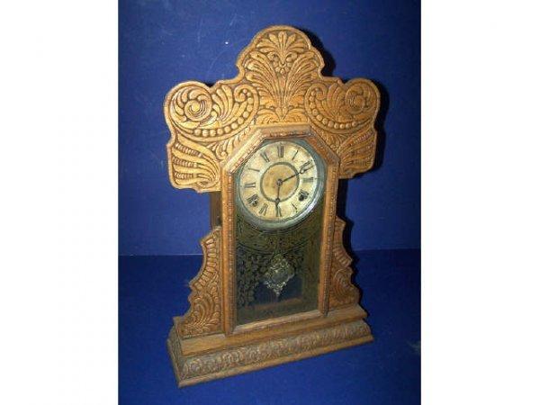 23: Antique Gingerbread Ingraham Kitchen Clock