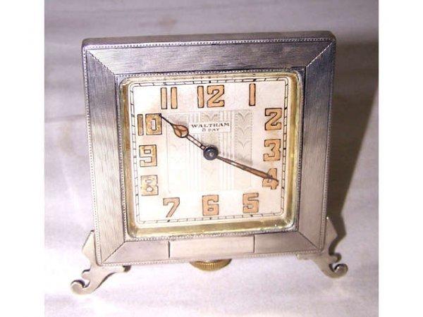 305: Waltham Art Deco Travel Clock