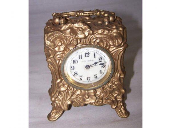 306: Seth Thomas Fancy Miniature Porcelain Face Clock