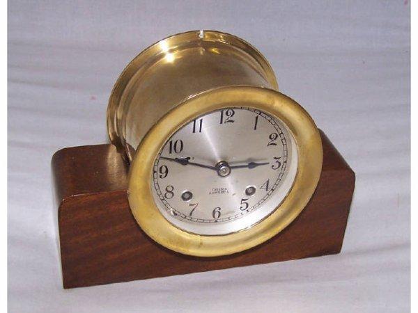 308: Good Brass Chelsea Brass Ships Bell Clock