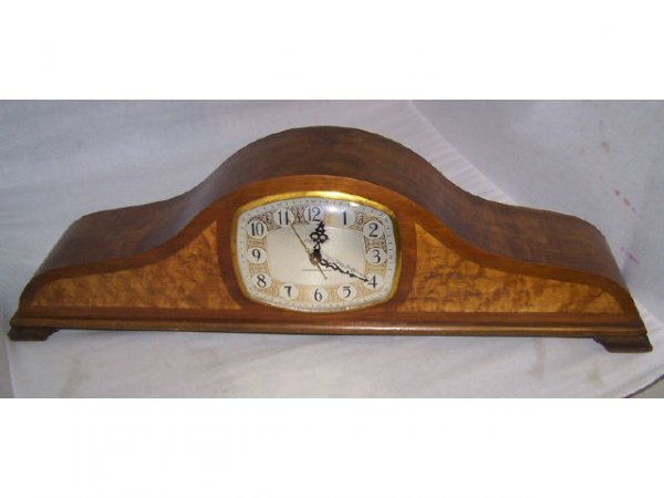 309: Walnut Westminster Chime Mantle Clock