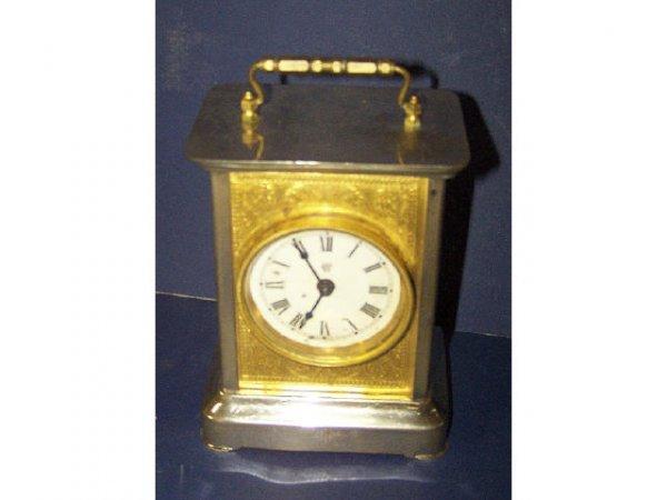 321: Waterbury Fancy Cased Carriage Clock