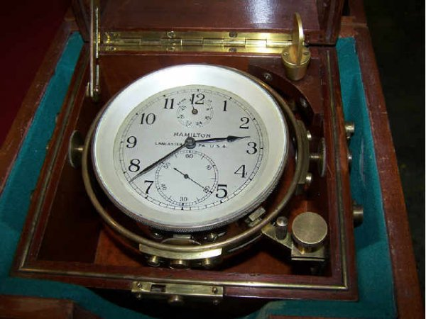 404: Hamilton Watch Co. Chronometer in Case