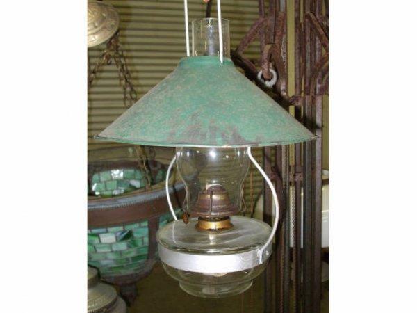 878: Victorian Kerosene Burner Oil Lamp