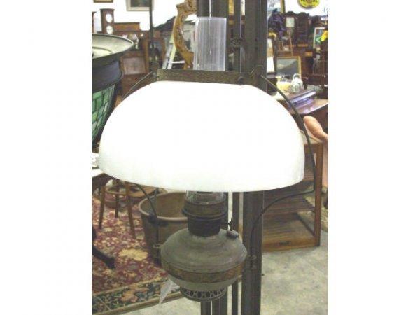 880: Victorian 1890s Kerosene Oil Lamp