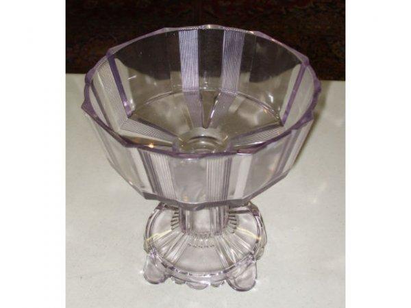 885: Antique Purple SUN GLASS Compote