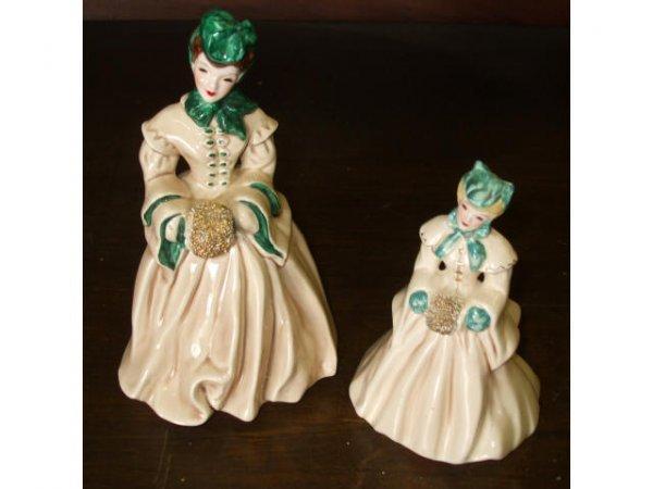 887: 2 Florence Ceramic Figurals