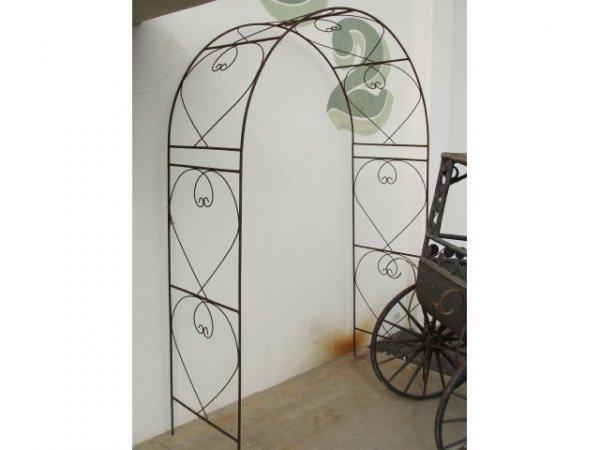 1244: Wrought Iron Garden Arbor Arch