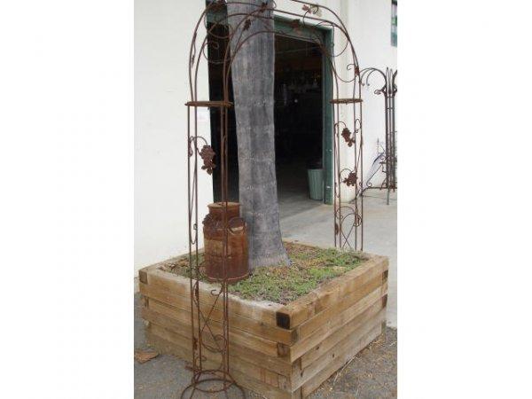 1247: 2 Fancy Wrought Iron Arch Trelis