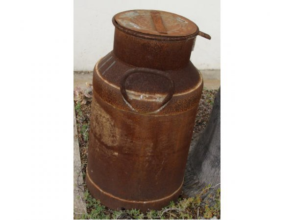 1248: Lot of 2 Rustic Milk Cans