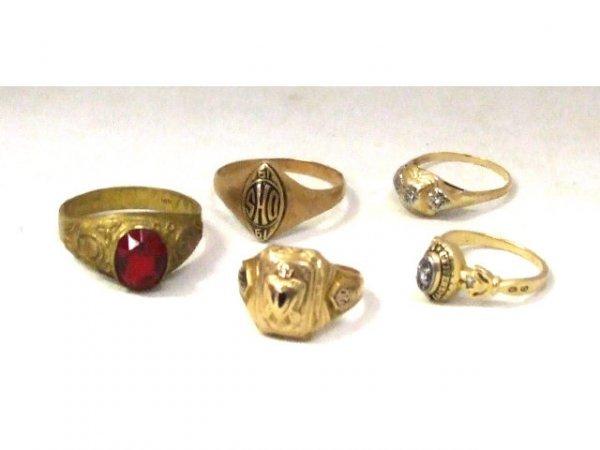 1254: Estate Lot of  Victorian Rings 14K
