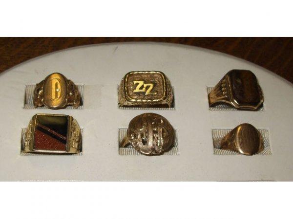 1255: Estate Lot of 14k Rings