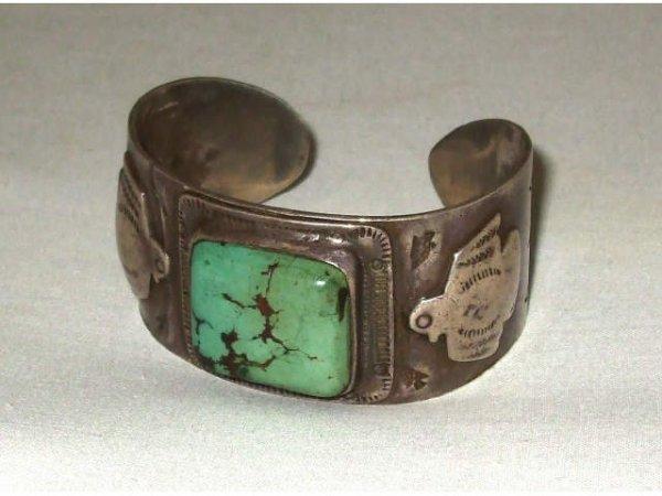 1259: Indian Pawn Turquoise Bracelet
