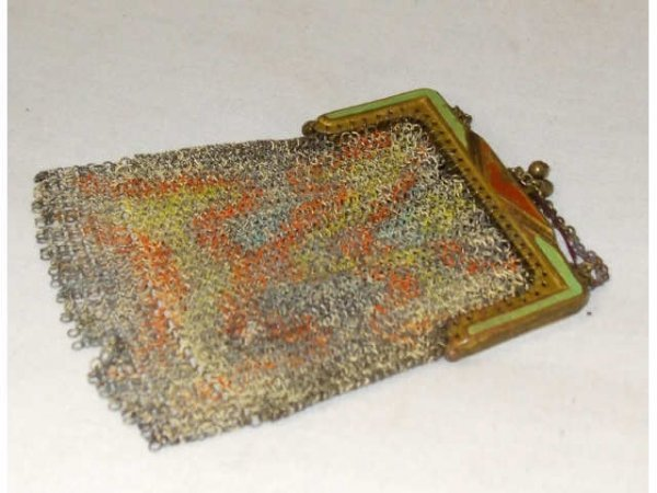 1260: Victorian Decorated Metal Change Purse