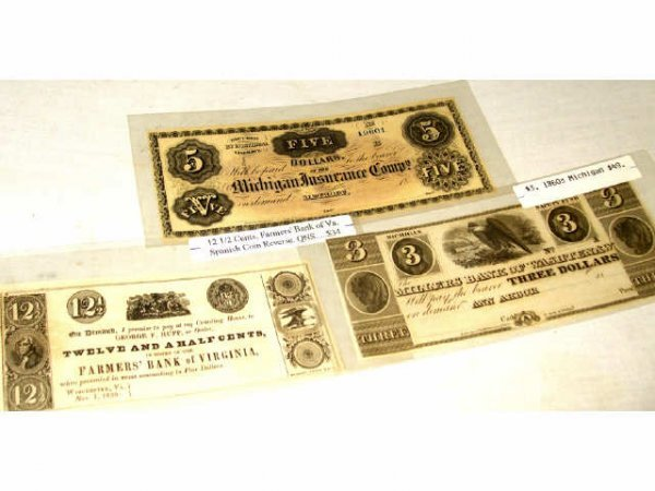 3: Lot of Obsolete USA Currency