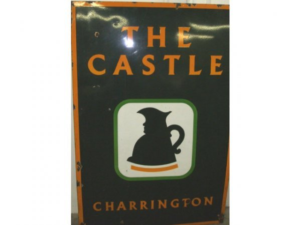 17: Large THE CASTLE Enamel Advertising Sign
