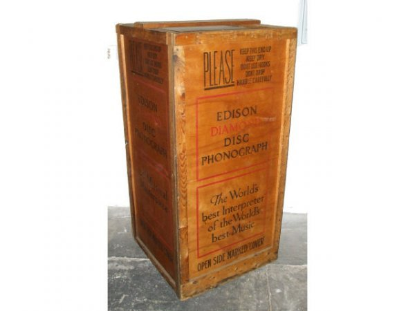 20: Rare EDISON Disc Phonograph Shipping Crate