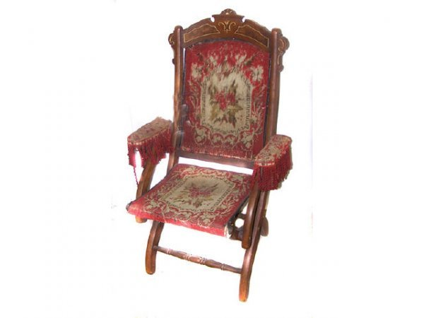 22: Victorian Folding Campaign Chair