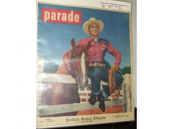 403: SCARCE GENE AUTRY Parade Magazine Cover