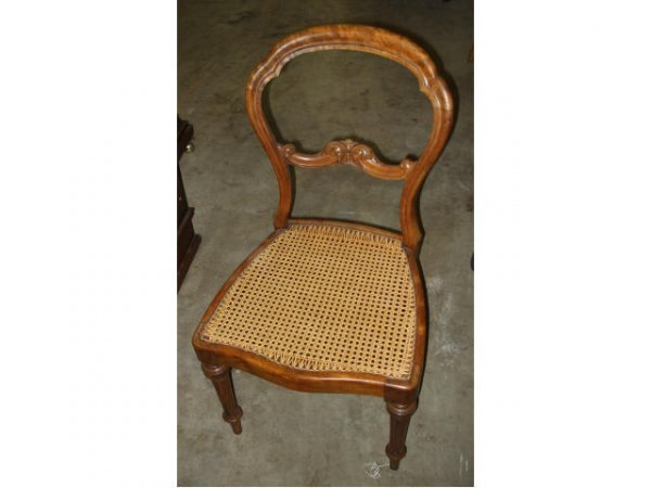 408: 1879s CULVER Walnut Victorian Chair