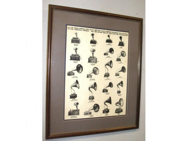417: Vintage Phonograph Identification Print