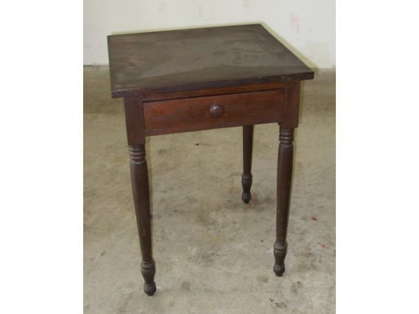 467: 1870s Walnut Work Table