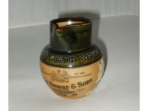709: Doulton Lambeth Dewar's Perth Whiskey Pitcher
