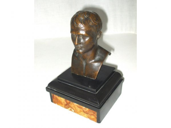 710: Julius Ceasar Patinated Bust on Marble