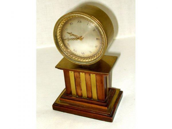 721: French Mixed Metal Antique Shelf Clock