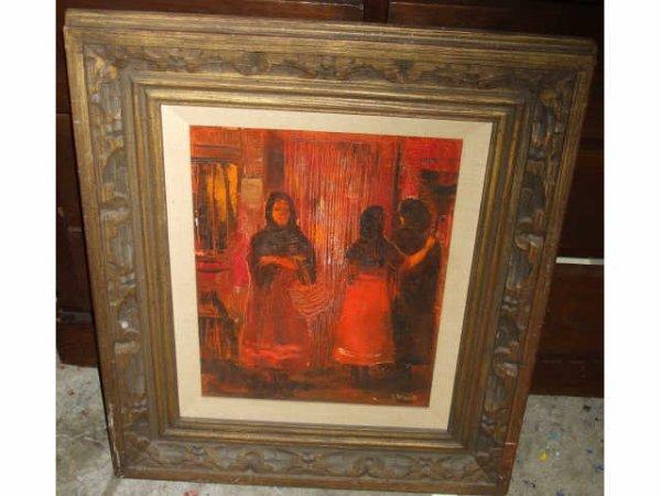 1143: LISTED Artist Viola Allen Oil Painting
