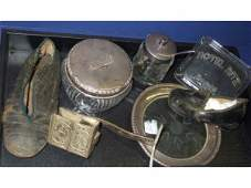 1190 Collectible Tray Lot with Sterling Ritz Hotel
