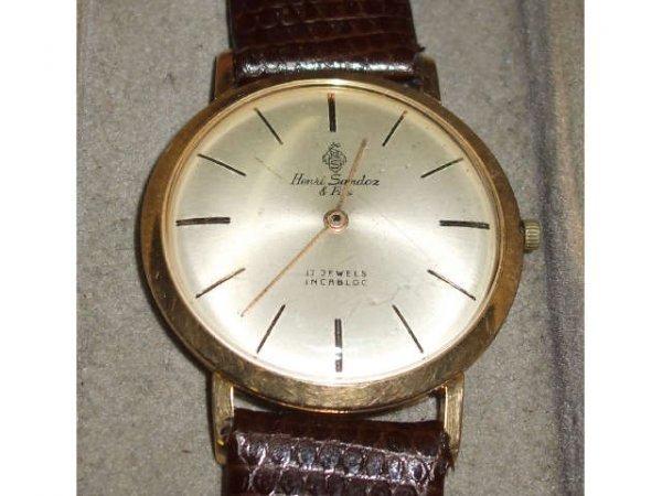 1239: Henri Sandoz  17 Jewel Wristwatch