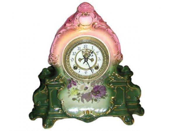 1503: Royal Bonn Style Porcelain Clock