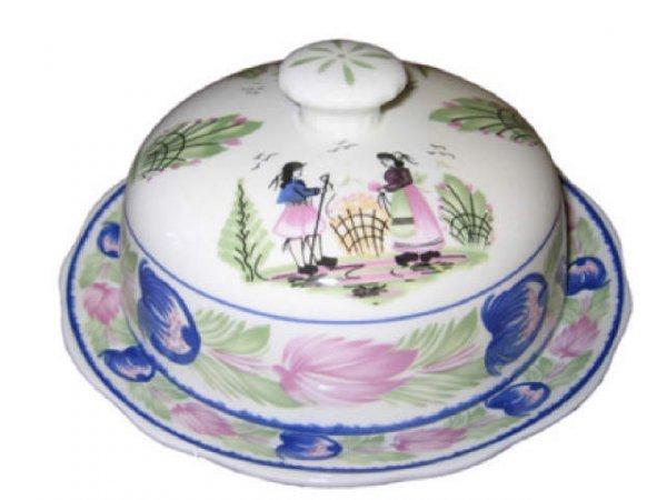 1504: Porcelain Quimper Butter Bell