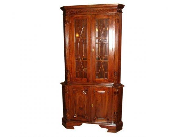 1507: Fine Mahogany Corner Cabinet