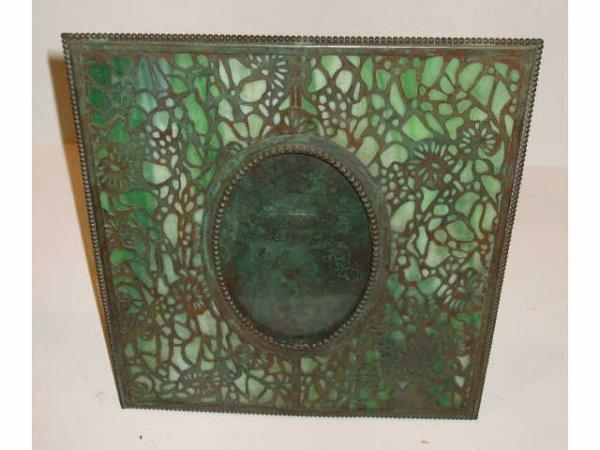 1531: Fine Tiffany Style A & C Grapevine Picture Frame