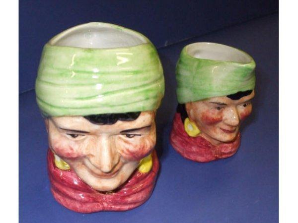 1040: 2 Toby Style Artone Character Mugs