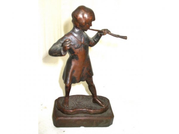 1042: Pompei Bronze Flute Figural