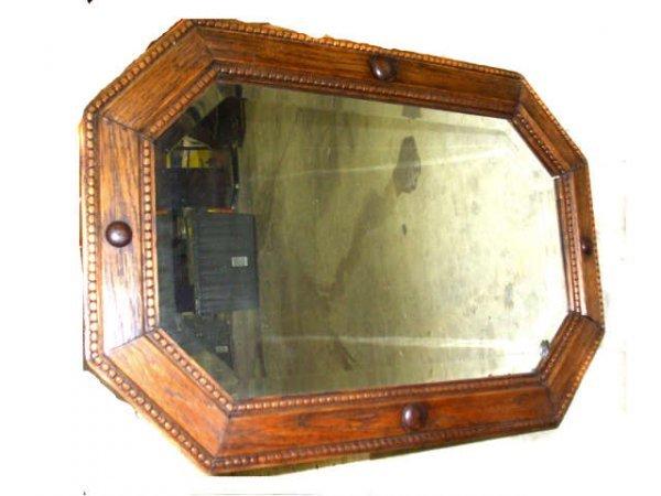 1046: English Oak Edwardian Mirror